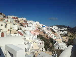 Oia is one of the most famous towns on Santorini.