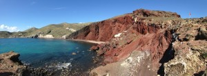 One of the most famous beaches in Santorini. It gets the red color from volcanic rocks.