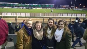 Me and my friends at a rugby match