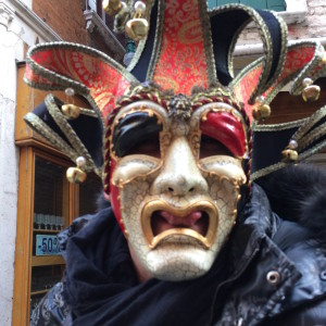 People wear all kinds of fun masks during the carnival!
