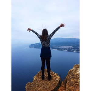 I stood on edge of one of the largest cliffs in Europe, near Cassis, France.