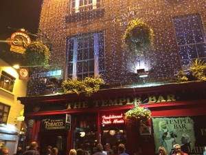 Temple Bar at night- Dublin's best known pub!
