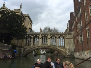 Bridge of Sighs from the punt