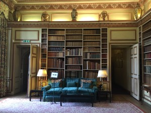 My favorite room in Leeds Castle- the library