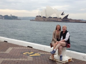 Mom & I outside the Opera House